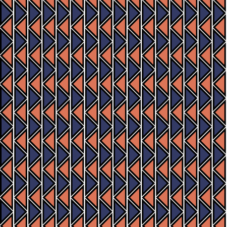 crankle: Seamless vector geometric pattern. Red and blue background with triangles in the shape of zigzag. Series of Decorative and Ornamental Seamless Patterns.