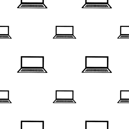 inet: Vector seamless black and white pattern with notebooks. Series of Technology Backgrounds. Illustration