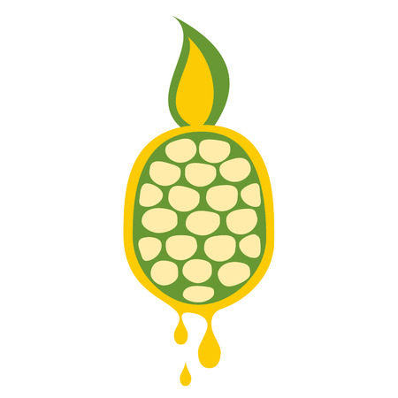 pineapple juice: Vector illustration of fruit. Pineapple in droplets of juice, isolated on the white background. Series of Fruits and Vegetables Illustrations. Illustration