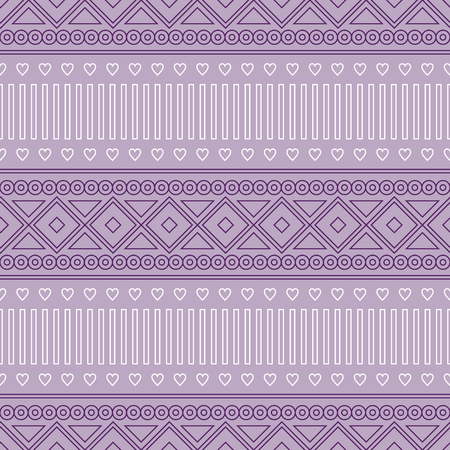 etnic: Seamless vector pattern.  Traditional ethno background in violet colors. Series of National, Folk, Ethnic and Traditional Seamless Patterns. Illustration