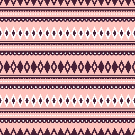 etno: Seamless vector pattern.  Traditional ethno background in pink colors. Series of National, Folk, Ethnic and Traditional Seamless Patterns.