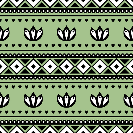 etno: Seamless vector pattern.  Traditional ethno background in green colors. Series of National, Folk, Ethnic and Traditional Seamless Patterns.
