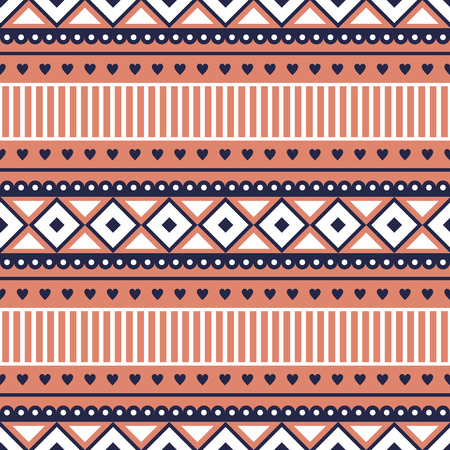 etno: Seamless vector pattern.  Traditional ethno background in red colors. Series of National, Folk, Ethnic and Traditional Seamless Patterns.
