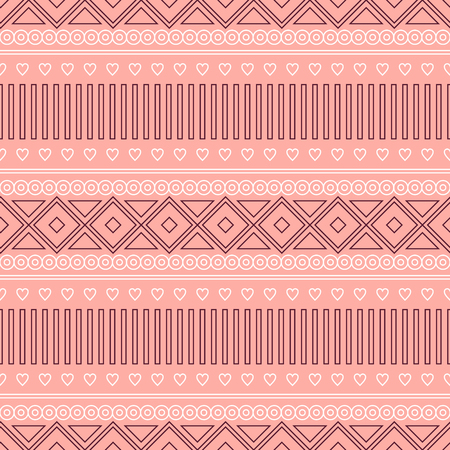 etnic: Seamless vector pattern.  Traditional ethno background in red colors. Series of National, Folk, Ethnic and Traditional Seamless Patterns.