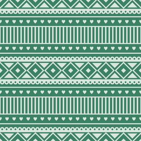etnic: Seamless vector pattern.  Traditional ethno background in green colors. Series of National, Folk, Ethnic and Traditional Seamless Patterns.