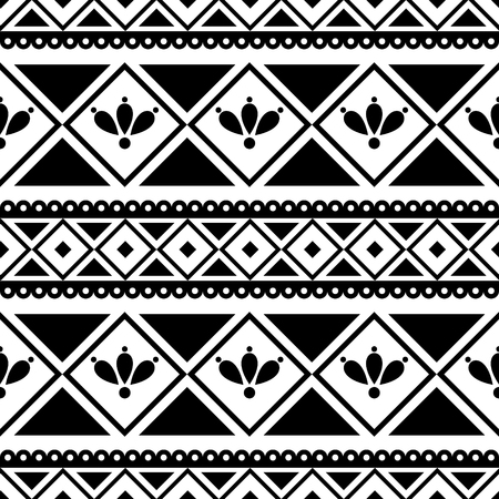 etnic: Seamless vector pattern. Black and white traditional etno background. Series of National, Folk, Etnic and Traditional Seamless Patterns.