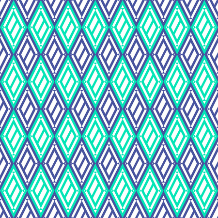 etnic: Vector decorative ornamental geometric background with rhombus in blue colors. Series of Seamless Geometrical Ornamental Patterns.