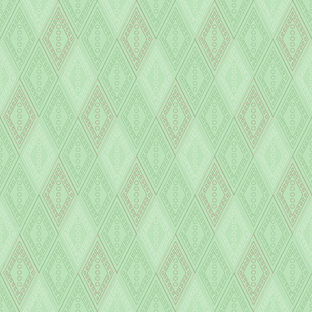 etno: Vector decorative ornamental geometric pastel background with rhombus in green colors. Series of Seamless Geometrical Ornamental Patterns.
