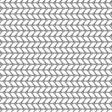 crankle: Seamless vector pattern. Black and white geometrical background with hand drawn lines in the shape of zigzag. Simple design. Series of Hand Drawn Simple Geometrical Patterns.