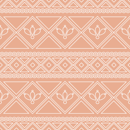 etno: Seamless vector pattern.  Traditional ethno background in orange colors. Series of National, Folk, Ethnic and Traditional Seamless Patterns. Illustration