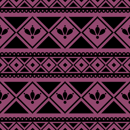 etno: Seamless vector pattern.  Traditional ethno background in violet colors. Series of National, Folk, Ethnic and Traditional Seamless Patterns. Illustration