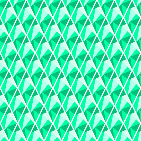geometrical pattern: Seamless vector geometrical pattern. Symmetrical background with rhombus in turquoise color. Polygonal design. Geometric triangular origami style, graphic illustration.