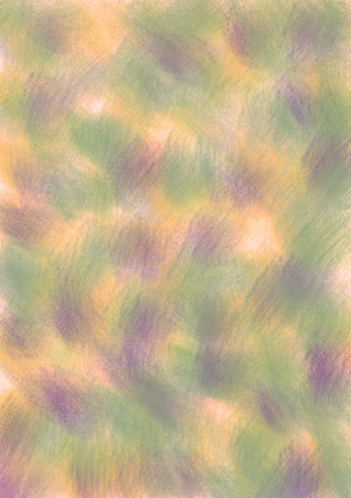 inc: Pastel drawn background with brushstrokes in green, violet and yellow colors. A4 size format. Series of Watercolor, Oil, Pastel, Chalk and Inc Backgrounds.
