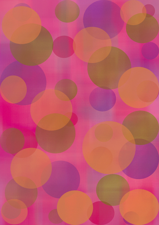 inc: Pastel watercolor abstract background with circles in red and violet colors. A4 size format. Series of Watercolor, Oil, Pastel, Chalk and Inc Backgrounds. Stock Photo