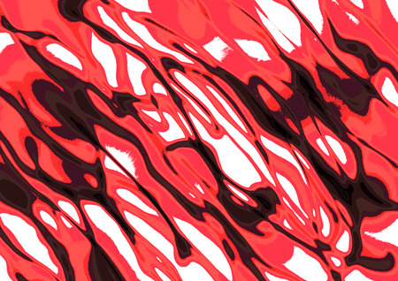 inc: Abstract drawn background with inc brushstrokes in red colors.