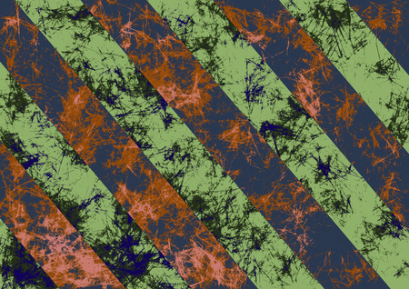 diagonal stripes: Abstract drawn grunge background in green colors with diagonal stripes.