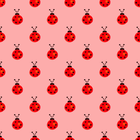 Seamless pattern with insects. Stock Photo