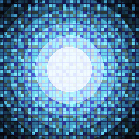 pixeled: Abstract blue pixeled background in the shape of circle.