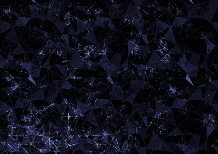 attrition: Abstract drawn blue background. Origami poligonal design with effect of  broken stained glass. Series of Grunge and Artistic Creative Backgrounds. Stock Photo