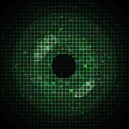 pixeled: Abstract green pixeled background in the shape of eye.