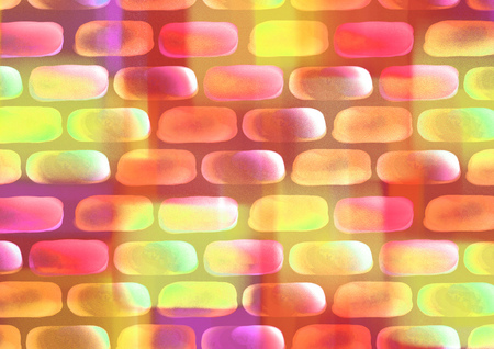 inc: Drawn watercolor background with colorful bricks. Series of Watercolor, Oil, Pastel, Chalk and Inc Backgrounds.