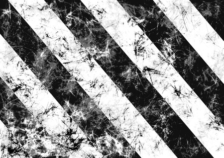 abrasion: Abstract drawn grunge background in black, white colors with diagonal stripes. Banner with effect of crumpled paper with scratches, abrasion, crack. Series of Grunge Black and White Backgrounds. Stock Photo