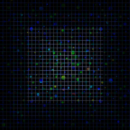 square shape: Abstract blue pixeled background in the shape of square.