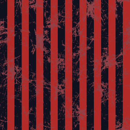 attrition: Seamless vector pattern. Creative geometric background with red and black vertical stripes. Texture with attrition, cracks and ambrosia. Old style vintage design. Graphic illustration. Illustration