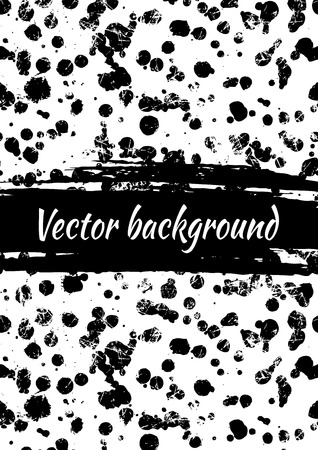 attrition: Vector background with black and white ink blots, splash and brush strokes, cracks and attrition. Colorful creative artistic template for card, layout, cover. Rainbow colors