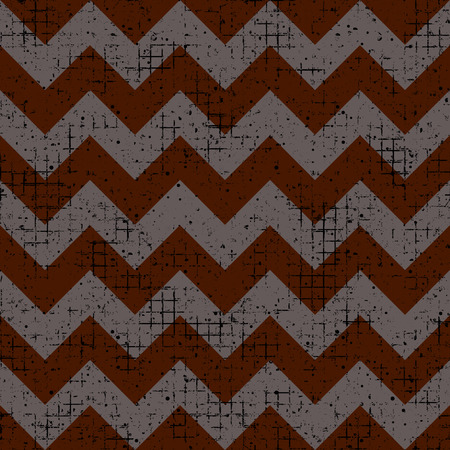 crankle: Seamless vector texture. Geometric grunge brown checkered background with attrition, cracks and ambrosia. Old style vintage design. Graphic illustration. Series of Grunge Old Seamless Patterns.