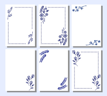 Set of vector floral frame card border greeting cards different set of vector floral frame card border greeting cards different template with m4hsunfo Images
