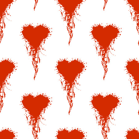 seamless pattern with hand drawn heart