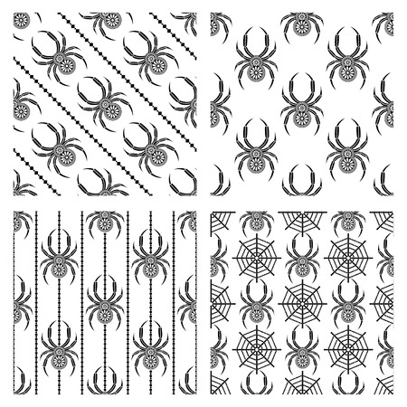 symmetrical: Set of seamless patterns symmetrical geometric backgrounds