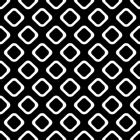 Seamless vector geometrical pattern. Endless black and white background with hand drawn rhombus. Graphic illustration. Template for cover, fabric, wrapping. Illustration