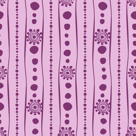 etno: Seamless vector pattern. Pink hand drawn endless background with ornamental decorative elements with ethnic, traditional motives. Series of Hand Drawn Ornamental Seamless vector Patterns