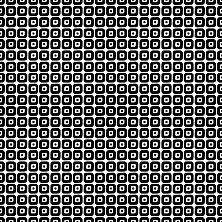 Seamless vector geometrical pattern. Endless black and white background with hand drawn rhombus, squares. Graphic illustration. Print for cover, fabric, wrapping, background.