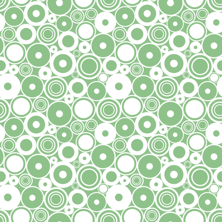 Seamless vector geometrical pattern. Endless background with circles. Graphic illustration. Print for cover, fabric, wrapping, background. Illustration