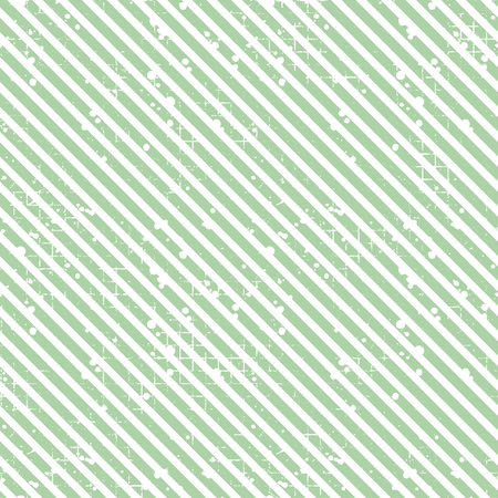Seamless vector striped pattern. Green geometric background with diagonal lines. Grunge texture with attrition, cracks and ambrosia. Old style vintage design. Graphic illustration. Illustration