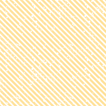 Seamless vector striped pattern. Yellow geometric background with diagonal lines. Grunge texture with attrition, cracks and ambrosia. Old style vintage design. Graphic illustration.