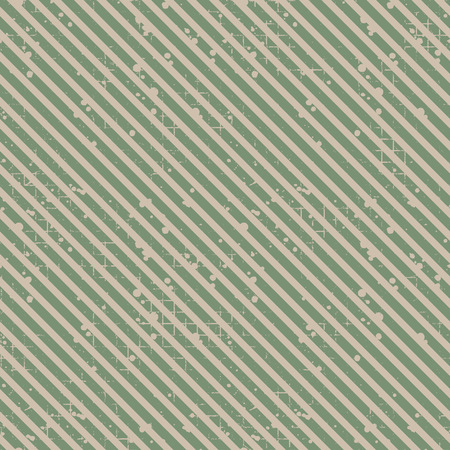 attrition: Seamless vector striped pattern. Green geometric background with diagonal lines. Grunge texture with attrition, cracks and ambrosia. Old style vintage design. Graphic illustration. Illustration