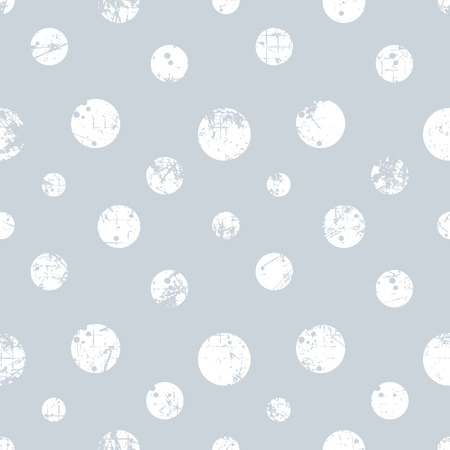 attrition: Seamless vector dotted pattern. Blue geometric background with circles. Grunge texture with attrition, cracks and ambrosia. Old style vintage design. Graphic illustration. Illustration