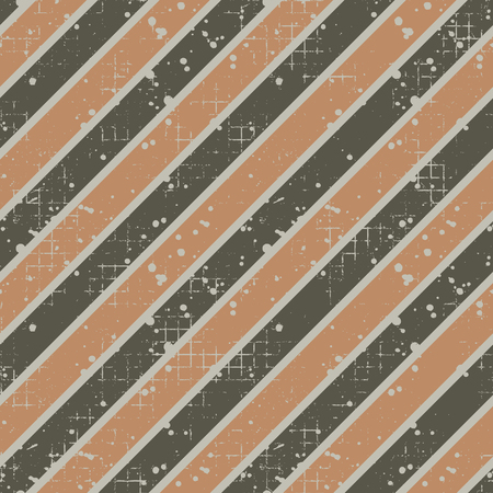 attrition: Seamless vector striped pattern. geometric background with diagonal lines. Grunge texture with attrition, cracks and ambrosia. Old style vintage design. Graphic illustration.