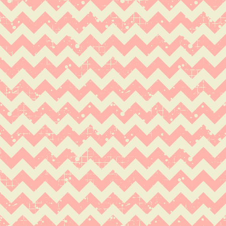 crankle: Seamless vector striped pattern. Pink geometric background with zigzag. Grunge texture with attrition, cracks and ambrosia. Old style vintage design. Graphic illustration. Illustration
