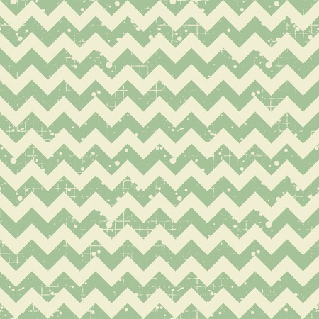 Seamless vector striped pattern. Green geometric background with zigzag. Grunge texture with attrition, cracks and ambrosia. Old style vintage design. Graphic illustration. Vektoros illusztráció