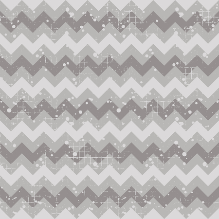 crankle: Seamless vector striped pattern. Grey geometric background with zigzag. Grunge texture with attrition, cracks and ambrosia. Old style vintage design. Graphic illustration. Illustration