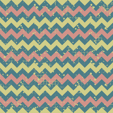 attrition: Seamless vector striped pattern. geometric background with zigzag. Grunge texture with attrition, cracks and ambrosia. Old style vintage design. Graphic illustration. Illustration