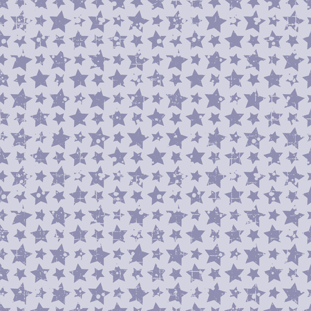attrition: Seamless vector pattern. Blue geometric background with stars Grunge texture with attrition, cracks and ambrosia. Old style vintage design. Graphic illustration.