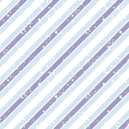 attrition: Seamless vector striped pattern. blue geometric background with diagonal lines. Grunge texture with attrition, cracks and ambrosia. Old style vintage design. Graphic illustration. Illustration