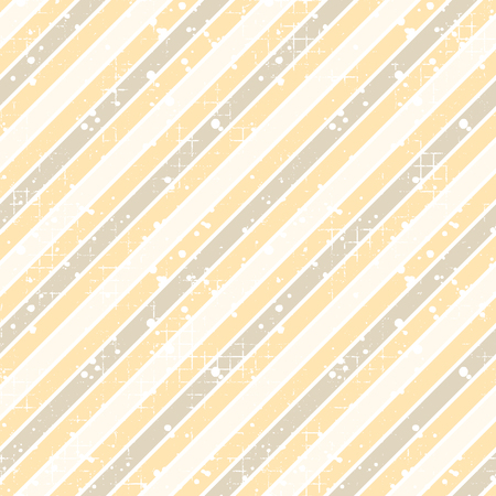 Seamless vector striped pattern. yellow geometric background with diagonal lines. Grunge texture with attrition, cracks and ambrosia. Old style vintage design. Graphic illustration. Illustration
