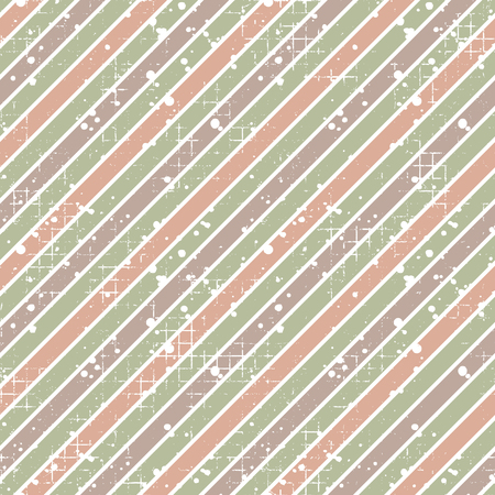 Seamless vector striped pattern. geometric background with diagonal lines. Grunge texture with attrition, cracks and ambrosia. Old style vintage design. Graphic illustration.